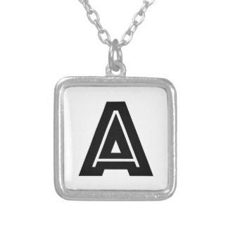 Brief een Eenvoudig Monogram |, Modern, Minimaal Zilver Vergulden Ketting