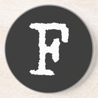 Brief F Zandsteen Onderzetter