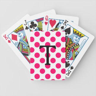 Brief T met Roze Stippen Poker Kaarten