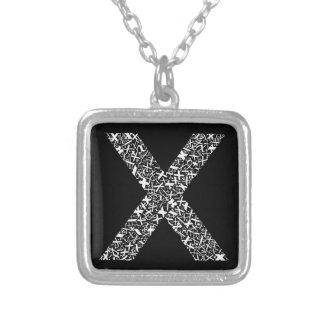 Brief X van het Alfabet Zilver Vergulden Ketting