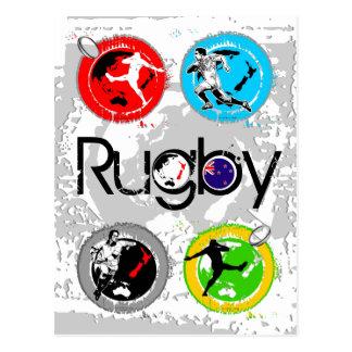 Briefkaart 4 van het rugby