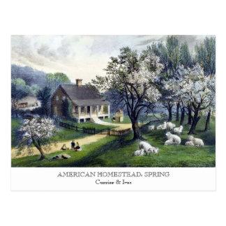Briefkaart - AMERIKAANSE HOEVE: De lente