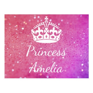 Briefkaart Bokeh van de Kroon van de prinses (Uw