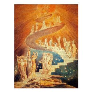 Briefkaart: De Ladder van Jacob - William Blake Briefkaart