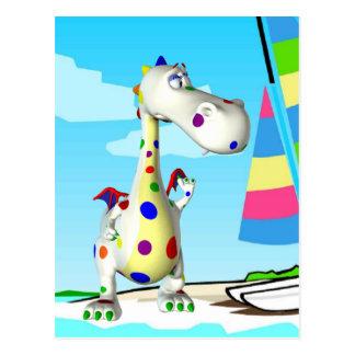 Briefkaart-dinosaurus pret voor de zomer wens kaarten