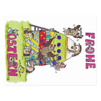 Briefkaart FROHE OSTERN door Nicole Janes