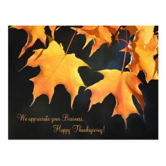 Briefkaart het bedrijfs van de Thanksgiving