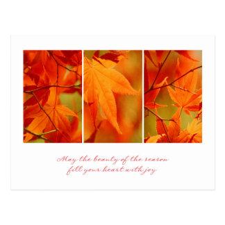 Briefkaart het bedrijfs van de Thanksgiving/voor