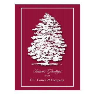 Briefkaart het bedrijfs van Kerstmis/voegt Wens Kaarten