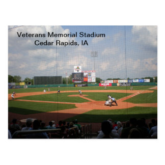 Briefkaart - het Memorial Stadium van Veteranen -