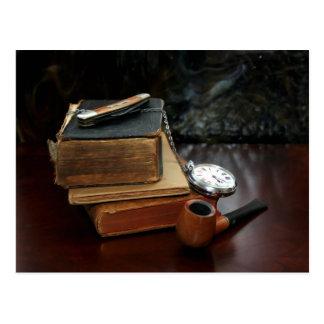 BRIEFKAART: Het roken van de pijp en vintage Briefkaart