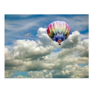 Briefkaart - Hete luchtballon in wolken Wens Kaarten