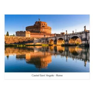 Briefkaart met Castel Sant Angelo in Rome
