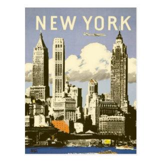Briefkaart met de Koele Vintage Druk van New York
