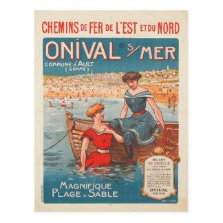 Briefkaart met de Vintage Druk van het Poster van