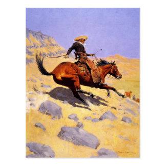 Briefkaart met Frederic Remington Painting