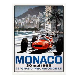 Briefkaart met het Poster van de Grand Prix van