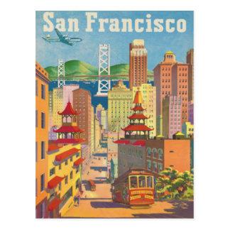 Briefkaart met het Vintage Poster van San