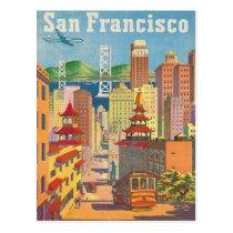 Briefkaart met het Vintage Poster van San Francisc