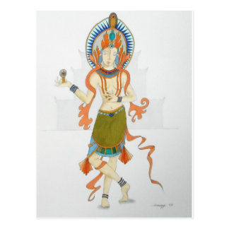 Briefkaart met originele kunst van een Hindoese