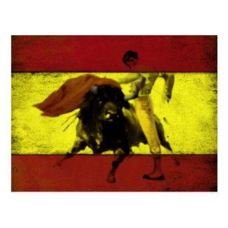 Briefkaart met Stieregevecht op Vuile Spaanse Vlag