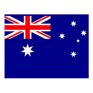 Briefkaart met Vlag van Australië