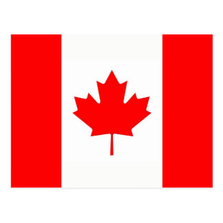 Briefkaart met Vlag van Canada