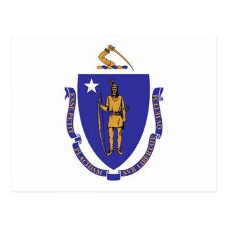 Briefkaart met Vlag van de Staat van Massachusetts