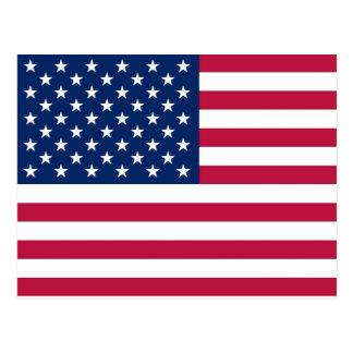 Briefkaart met Vlag van de V.S.
