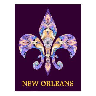 Briefkaart New Orleans fleur-DE-Lis