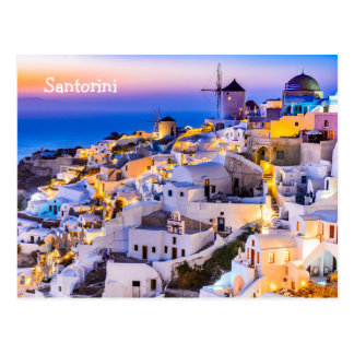 Briefkaart Santorini Griekenland