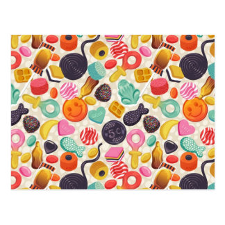 briefkaart, snoep, lollypop, wijnoogst briefkaart