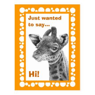 Briefkaart van de Cirkels van de Giraf van het