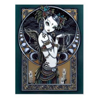 Briefkaart van de Engel van de Danser van de Fusie