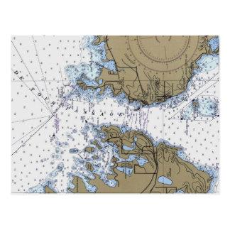 Briefkaart van de Grafiek van DE Tour Passage het