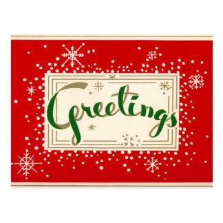 Briefkaart van de Groeten van Kerstmis van de pret