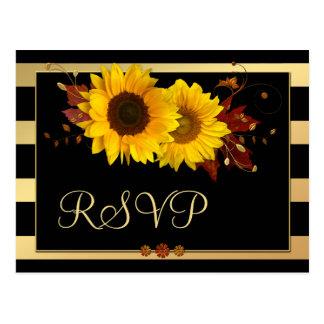 Briefkaart van de Herfst RSVP van de zonnebloem