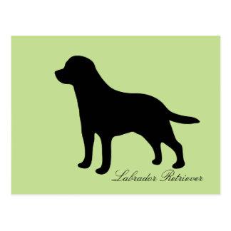 Briefkaart van de het silhouethond van de labrador