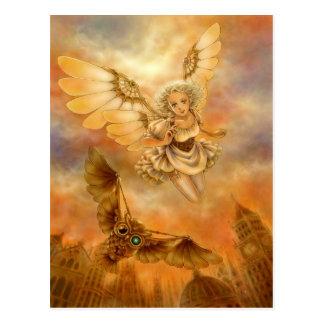 Briefkaart van de Kunst van de Fantasie van de Uil