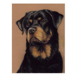Briefkaart van de kunst van Rottweiler het