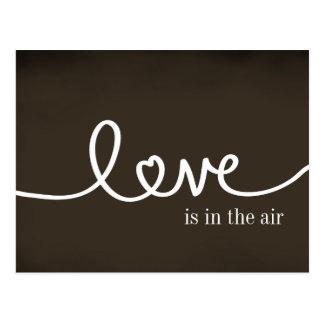 Briefkaart van de Liefde van het bord het Met de