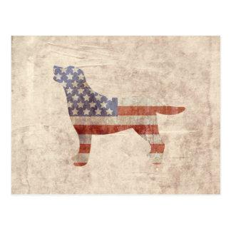 Briefkaart van de Vlag van het patriottische