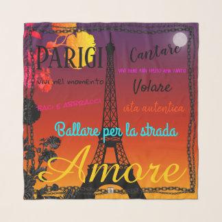 Briefkaart van de Zonsondergang van Amore van de Sjaal