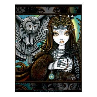 Briefkaart van Fae van het Tattoo van de Godin van