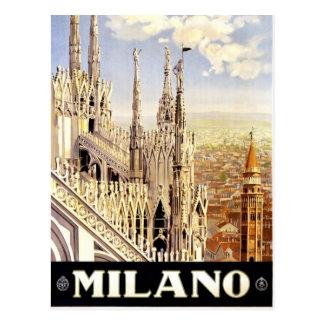 Briefkaart van het de reisafbeelding van Milaan,