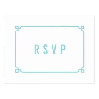 Briefkaart van het Huwelijk RSVP van Deco van het
