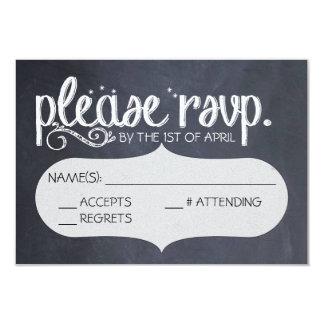 Briefkaart van het Huwelijk RSVP van het bord het
