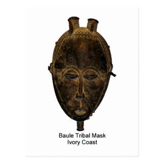 Briefkaart van het Masker van Baule het Stammen