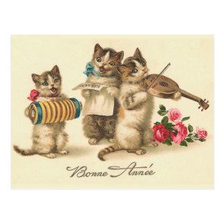 """Briefkaart van het Nieuwjaar van """"Bonne Annee"""" het"""