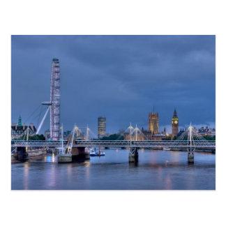Briefkaart van het Oog en Big Ben van Londen